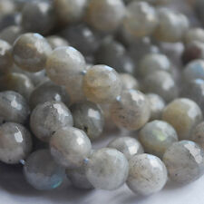 "15""  Genuine Gemstone Labradorite Faceted Round Beads 6mm, 8mm, 10mm - Grade AA"