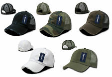 NEW VINTAGE WASHED MESH TRUCKER HAT BASEBALL CAP MANY COLORS AVAILABLE