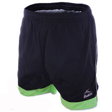 Bukta Odyssey Football Shorts Black / Lime / Silver All Sizes Available rrp£15