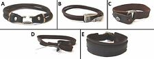 1 BRAND NEW ABERCROMBIE & FITCH LEATHER WRISTBAND BRACELET ADJUSTABLE, ONE SIZE