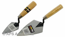 "New Pointing Trowel 4"" or 6"" Available Hardened Tempered Steel Lacquered Wooden"