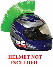 Helmet Green Mohawks PC Racing All Colors Interchangable Mohawk