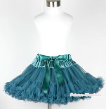 Teal Green FULL Pettiskirt Skirt Pageant Party Dress Dance Tutu Child Girl 1-8Y