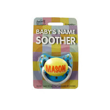 Baby Boys Name Personalised Dummy - multi listing - names M-W - Soother/Pacifier