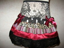 NEW Girls Mixed Black,Burgundy,White,Brown lace Punk,Goth,Rock,Party,Skirt**