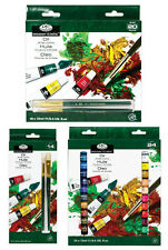ROYAL LANGNICKEL OIL COLOUR ARTIST PAINTS BRUSH SET 12ml TUBES PACKS 12,18, 24