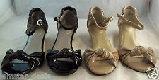 Bass VALERIE Strappy Open Toe Sandal Patent Finish Mini Wedge Heel NIB Size 6M