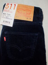 Levis 511 Mid Stretch Slim Fit Straight Corduroy Jeans Mens Size 28 X 30 NEW $60