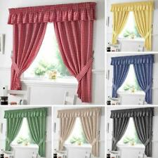 Gingham Check Kitchen Curtains All Colours / Sizes