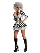 Adult Miss Beetlejuice Outfit Fancy Dress Costume Sexy Halloween Ladies Womens