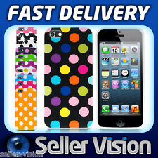 Polka Dots Series Stylish Soft Gel Back Case Cover Skin for New Apple iPhone 5