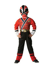 Child Power Rangers Red Samurai Party Outfit Fancy Dress Costume Superhero Boys