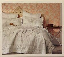 Simply Shabby Chic Blue Green Garden Stripe King, Queen Full, Twin Quilt or Sham