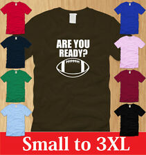 ARE YOU READY FOR FOOTBALL LADIES T-SHIRT S M L XL sport nfl fantasy college fan