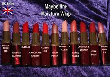 MAYBELLINE Moisture Whip lipstick CHOICE OF SHADE red brown pink peach lip paint