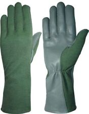 Military Style Nomex & MultiCam Pilot Flight Tactical Leather Gloves