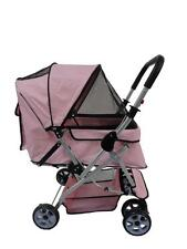 New Flexible Handle Large Black/Beige/Blue/Pink Pet Dog Cat Stroller Carrier