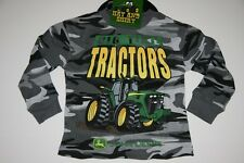 NWT JOHN DEERE BOY 4 5/6 7 Small Medium Large Thermal Beanie Camo Gray Tractor