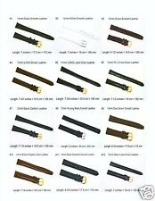 11mm-12mm-13mm-14mm Black,Brown,White, Leather Watch Bands Regular & LONG Sizes