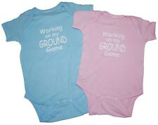 "Baby Onesie for BJJ ""Working on My Ground Game"" jiu jitsu shirt infant"