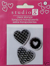 Assorted Valentine's Day Stamps  Clear Acrylic Your Choice $1.50  Hampton Art