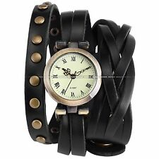 Fashion Lady Women Wrap Around Bracelet Analog Wrist Quartz Watch