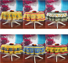 "Provencal French Design - 71"" ROUND Tablecloths - NEW - Your Choice"