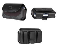 Black Leather Belt Side Case Pouch Clip Loops For ATT HTC Inspire 4G