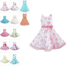 3 Layers Girls Dress Pink Flower Wave Pageant Wedding Kids Clothing SZ 4-12 NWT