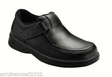 Orthofeet Men's Comfort Shoes Easy Slip Black With FREE Inserts