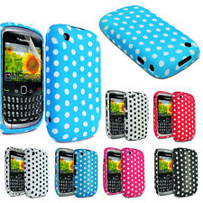 Polkadots Design Housse Pour Blackberry Curve 8520 free screen protector