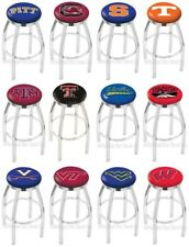Choose NCAA P-Z Team L8C2C Chrome Single-Ring Swivel Bar Stool w/ Accent Ring