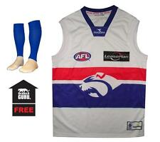 New Baby Kids Adults AFL Football Jumper Guernsey Western Bulldogs + Footy Socks