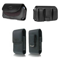 2x Leather Case Pouch Cover Holster for Boost Mobile Consumer Cellular Phones