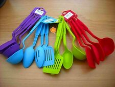 4 Piece Kitchen Mixing Baking Cooking Utensils Tools Set Spoons Ladle & Spatula