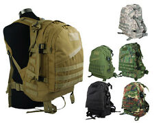 Airsoft Tactical US Army Hunting 3Day Molle Assault Backpack Bag 6 Colors BK/TAN