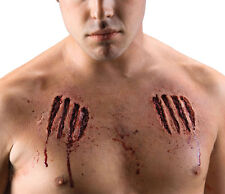 Clawed Chest Wounds Zombie Costume Accessory 68829