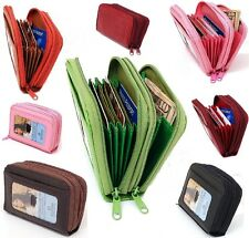 Womens Leather Mini Wallet ID Credit Cards Cash Coin Holder Case Organizer Puse