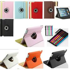 For Apple iPad  NEW 360 Degree Rotating PU Leather Case Cover w Swivel Stand