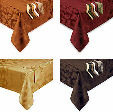 Autumn Harvest Damask Fall Fabric Tablecloth Thanksgiving Assorted Color Size