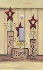Light Switch Plate Switchplate Cover LIVE LOVE LAUGH AMERICANA ~