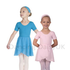 GIRLS CHIFFON / GEORGETTE BALLET WRAP SKIRT WRAP OVER SKIRT AGES 3-12 YRS