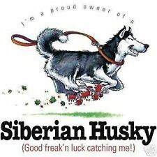 Siberian Husky Funny Dress Nightshirt Pick Your Size
