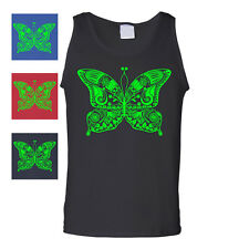 Butterfly Design Tank Top T-Shirt Graphic Art Vintage Mens Cute Cool Tee
