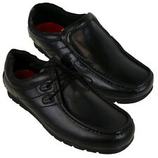 Loafer Shoes for Men Lambretta Black Leather Office School Size US 7 to 13