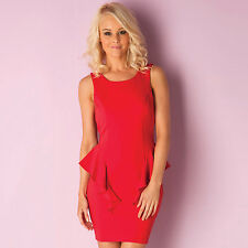 Lipsy Peplum Dress In Red From Get The Label SY1