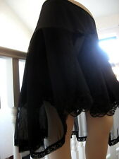 New Gothic Black Sheer mesh Lace Linen Fishtail Skirt Party Gift Rock Boho plus