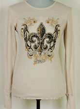 Bejeweled Crystallized With Swarovski Thermal Shirt Top