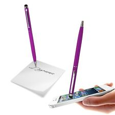 BIG STYLUS DUAL FUNCTION CAPACITIVE PURPLE TOUCH PEN FOR VARIOUS MOBILE PHONES