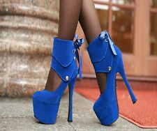 2013 Sexy Women's Super High Heel Ankle Strap BOW Platform Pumps Shoes 2 Ways